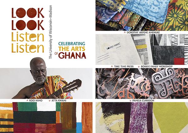 Card from Look Look Listen Listen art exhibition & concert, University of Wisconsin-Madison