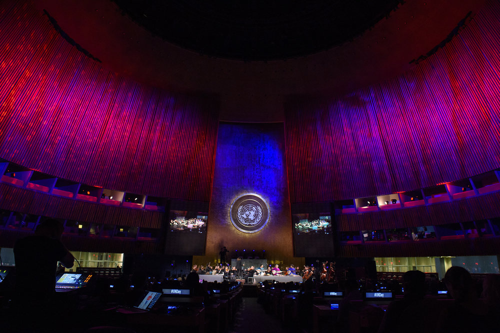 Refugee Orchestra Project performs at United Nations Photo by Steve Philip