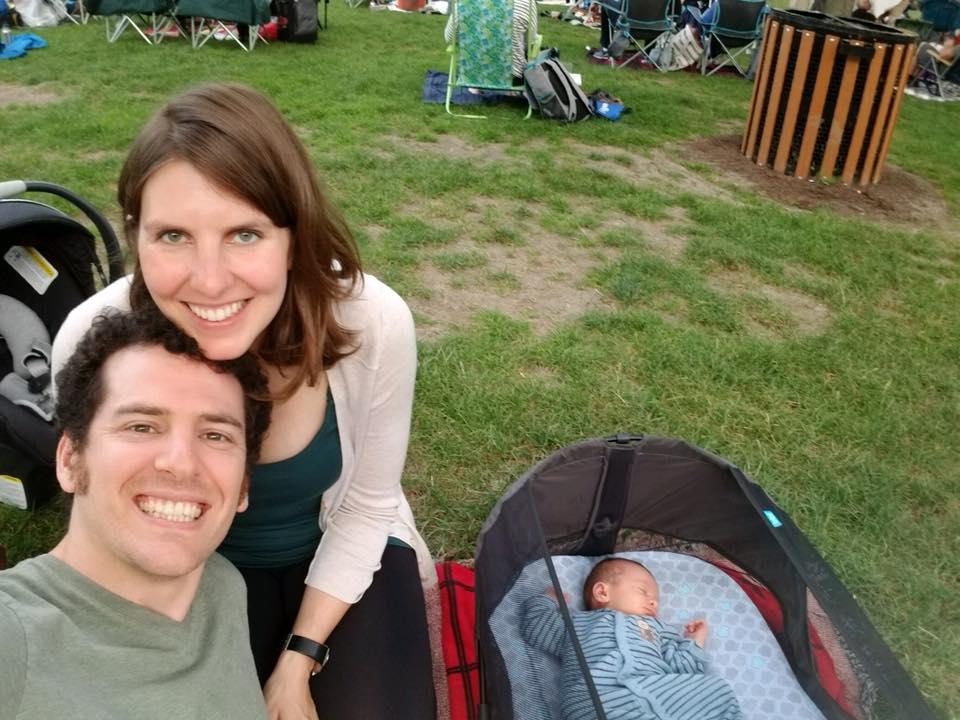 Lidiya with husband Dan and daughter Artemis at the Ravinia Festival
