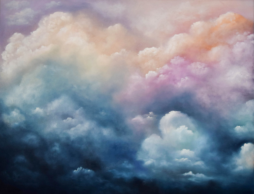 """Cloud #5 - 30""""x24""""Oil on CanvasSemi Gloss FinishAVAILABLE-INQUIRE FOR PRICE"""