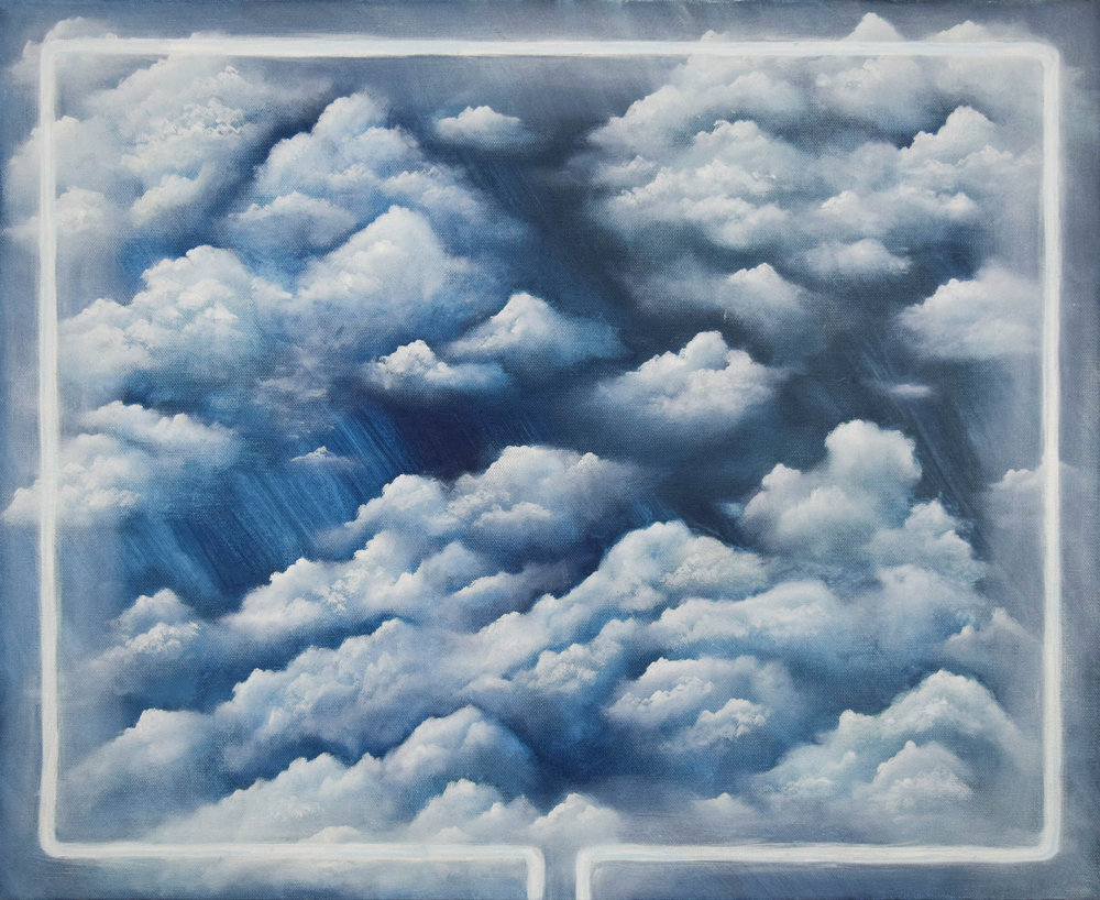"""Cloud #6 - 24""""x20""""Oil on CanvasSemi Gloss FinishAVAILABLE-INQUIRE FOR PRICE"""