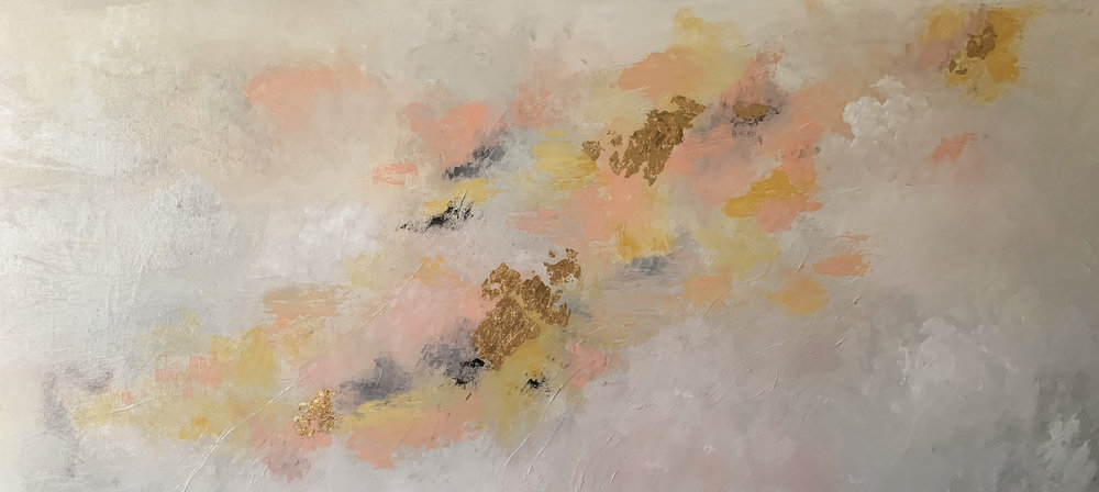 "Cloud #7 - 48""x24""Acrylic on CanvasSemi Gloss FinishSOLD"
