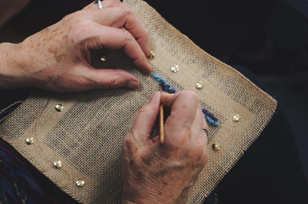 Rug Hooking Workshop, 6 October 2018  Shetland Museum & Archives, Lerwick, Shetland