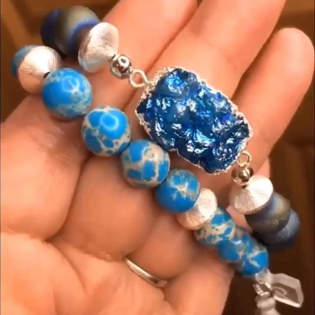 #druzyjewelry #druzylove #druzybracelets #glampretties #mplsfashion #cosmicalchemy #gemstonebracelets