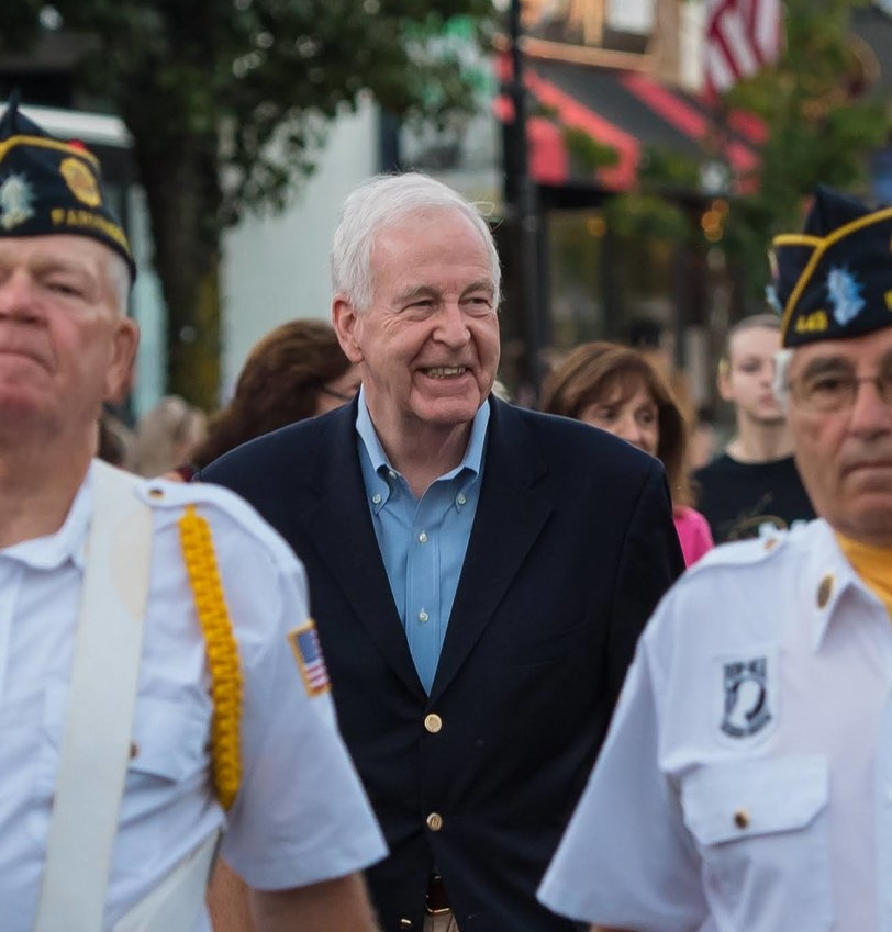 Kemp marched in the Farmingdale Fire Department parade in early October.