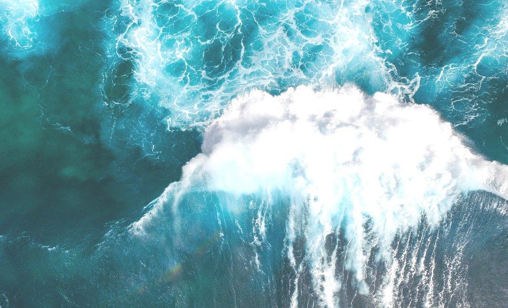 Making waves. -