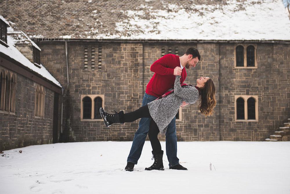 Winter wedding Pittsburgh