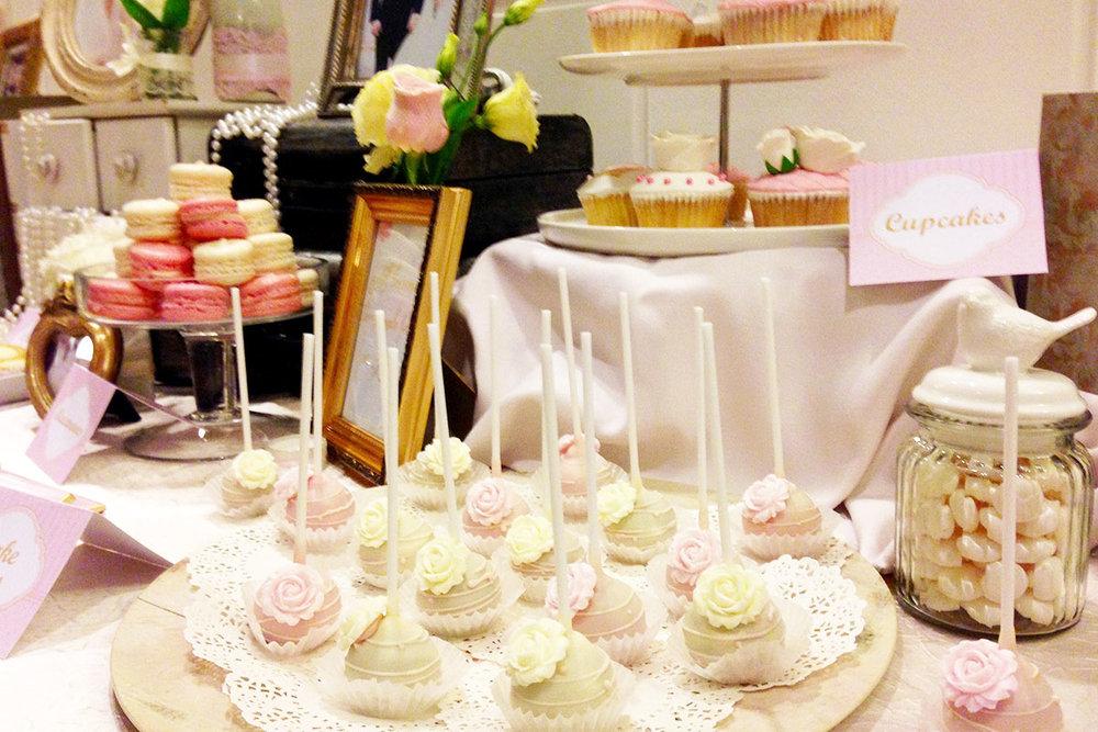 Classic wedding dessert table