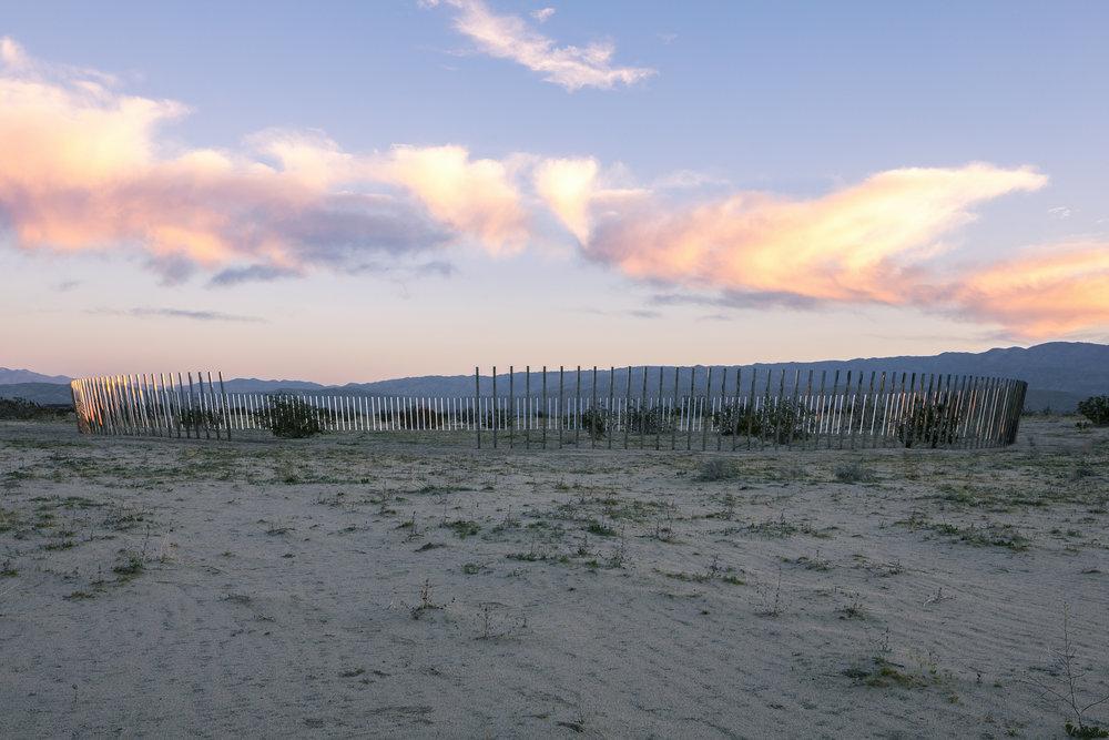 DESERT X: PHILLIP K SMITH III - THE CIRCLE OF LAND AND SKY, PALM DESERT, CA