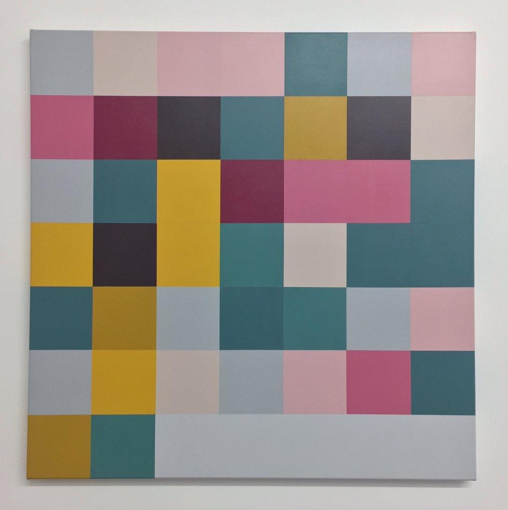 Kristin McIver  Cameron McIver , 2015 acrylic on canvas 36 x 36 in (91.4 x 91.4 cm)