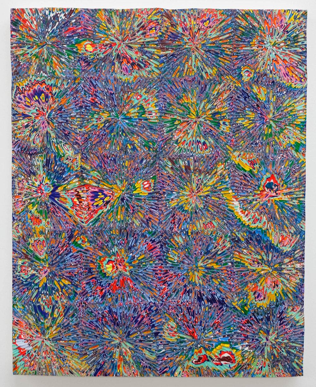 David Allan Peters  Untitled #18 , 2018 acrylic on wood panel 20 x 16 in (50.8 x 40.6 cm)