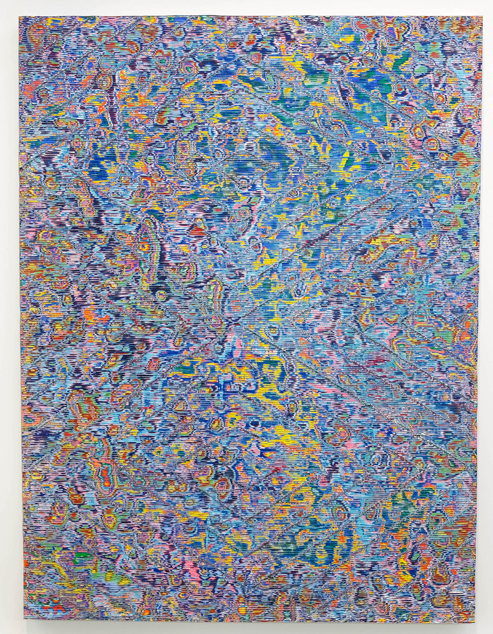 David Allan Peters  Untitled #2 , 2018 acrylic on wood panel 18 x 24 in (45.7 x 61 cm)