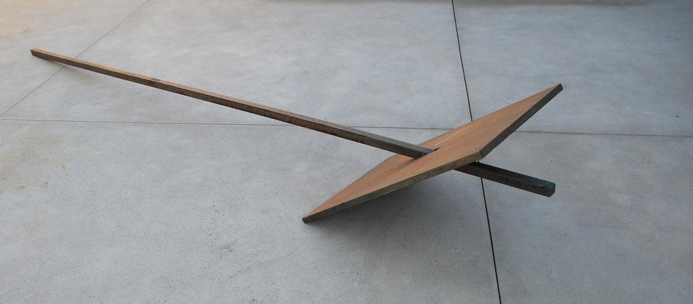 Kenneth Capps  Backdrop , 1973 steel 24 x 24 x 144 in (61 x 61 x 365.8 cm)