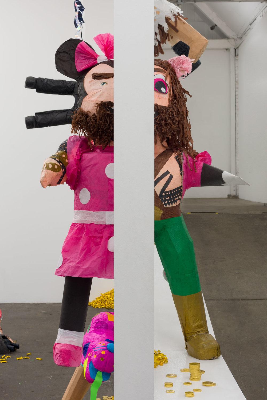 Rubén Ortiz Torres Detail:  Through the Wall , 2019 piñatas, full installation dimensions variable