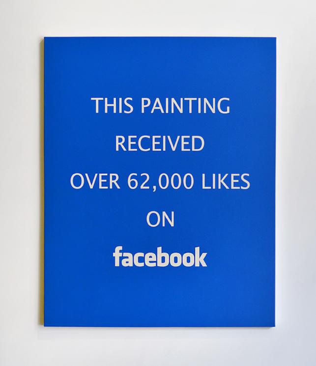 Alejandro Diaz  Facebook Likes , 2015 acrylic painting on canvas 60 x 48 in (152.4 x 121.9 cm)
