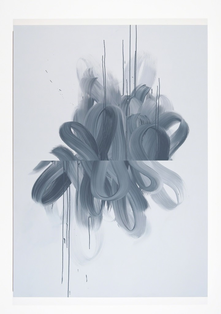 Jane Callister  Wave Vector , 2017 Baroco-pop acrylic on canvas 84 x 60 in (213.4 x 152.4 cm)