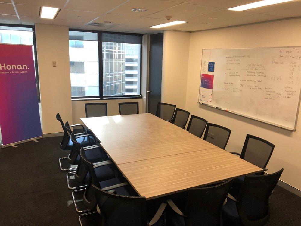 Honan Board Room - Location: Level 13, 40 Creek Street, Brisbane Max capacity: 12