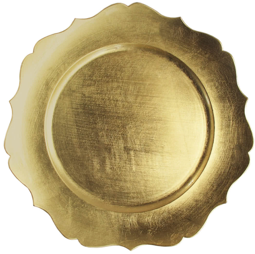 Vintage Gold Acrylic Charger