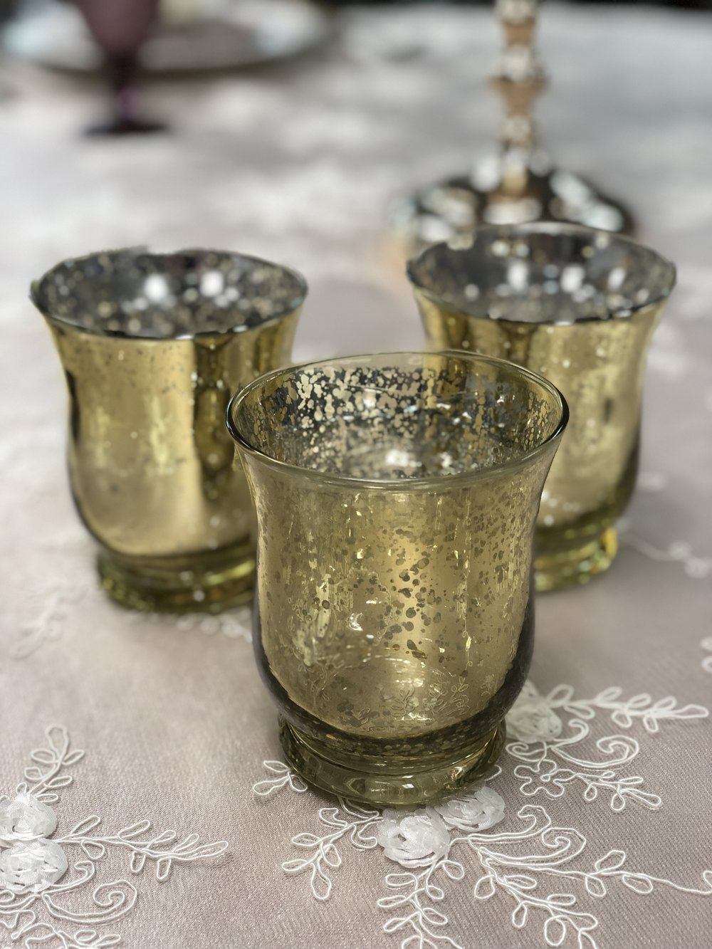 Gold Votives different colors available