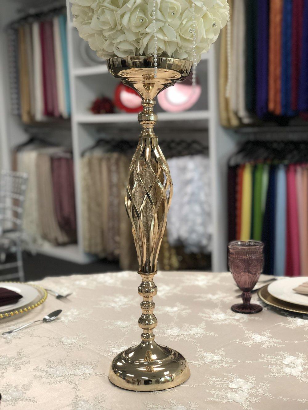 Gold Braided Vase