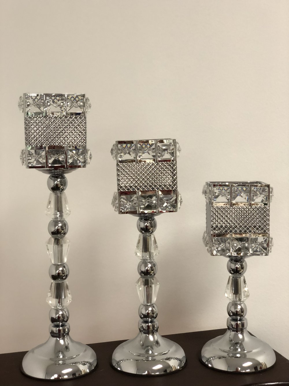 Silver set of 3 Centerpiece