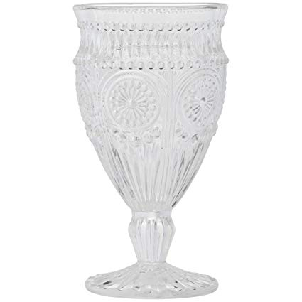 Clear Glass Goblet 12oz