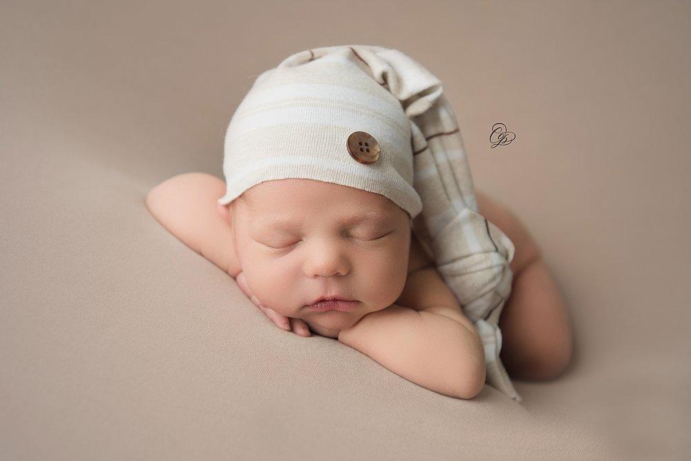 Sleepy Cap:  Little Bear Upcycle Photography Props