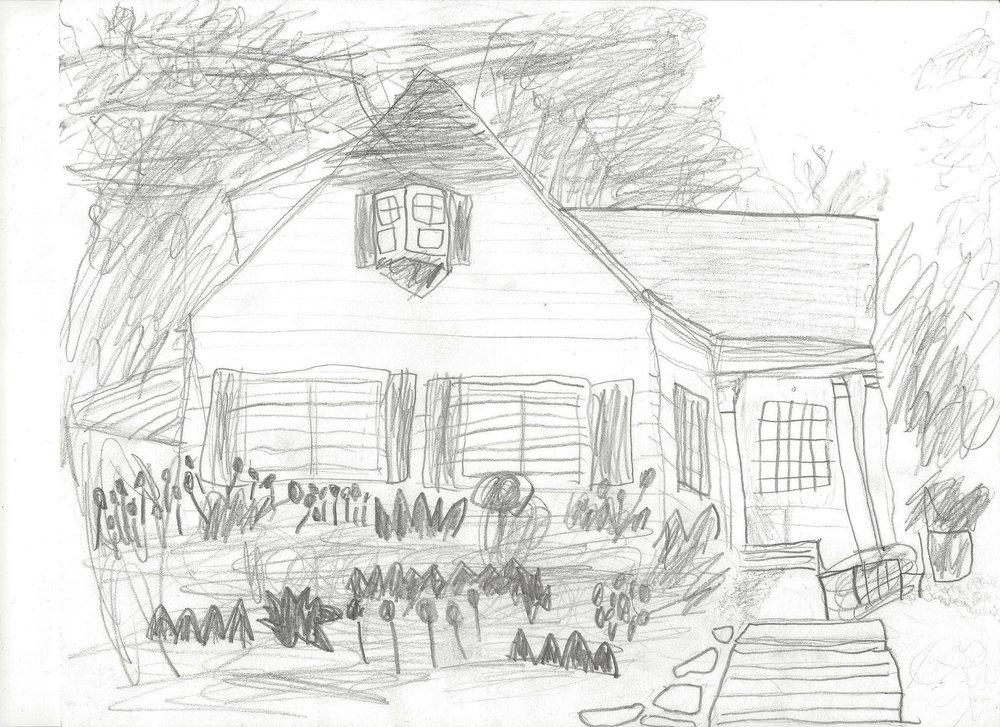 Artist rendering by  Cedrick Patla, 1st grader .