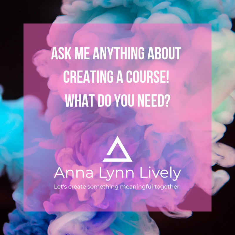 Email me at anna@annalynnlively.com to let me know what you need the most!