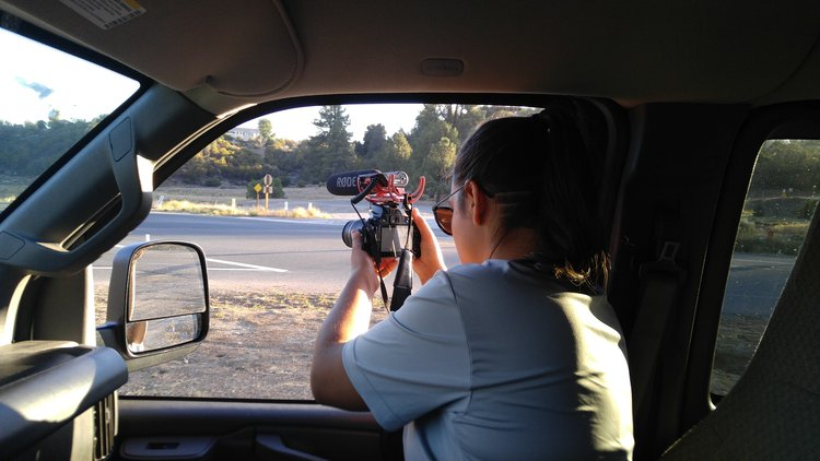 Our famous guide, Madi Lewis, becoming the next big Hollywood producer! Garner Valley, CA.