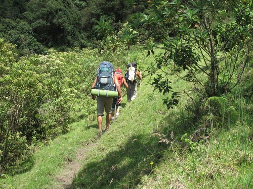Backpacking in the Riobomba region of Ecuador to spend a few days rock climbing.