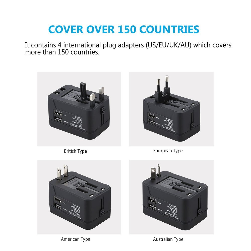 5. All in One Universal Travel Power Adapter -