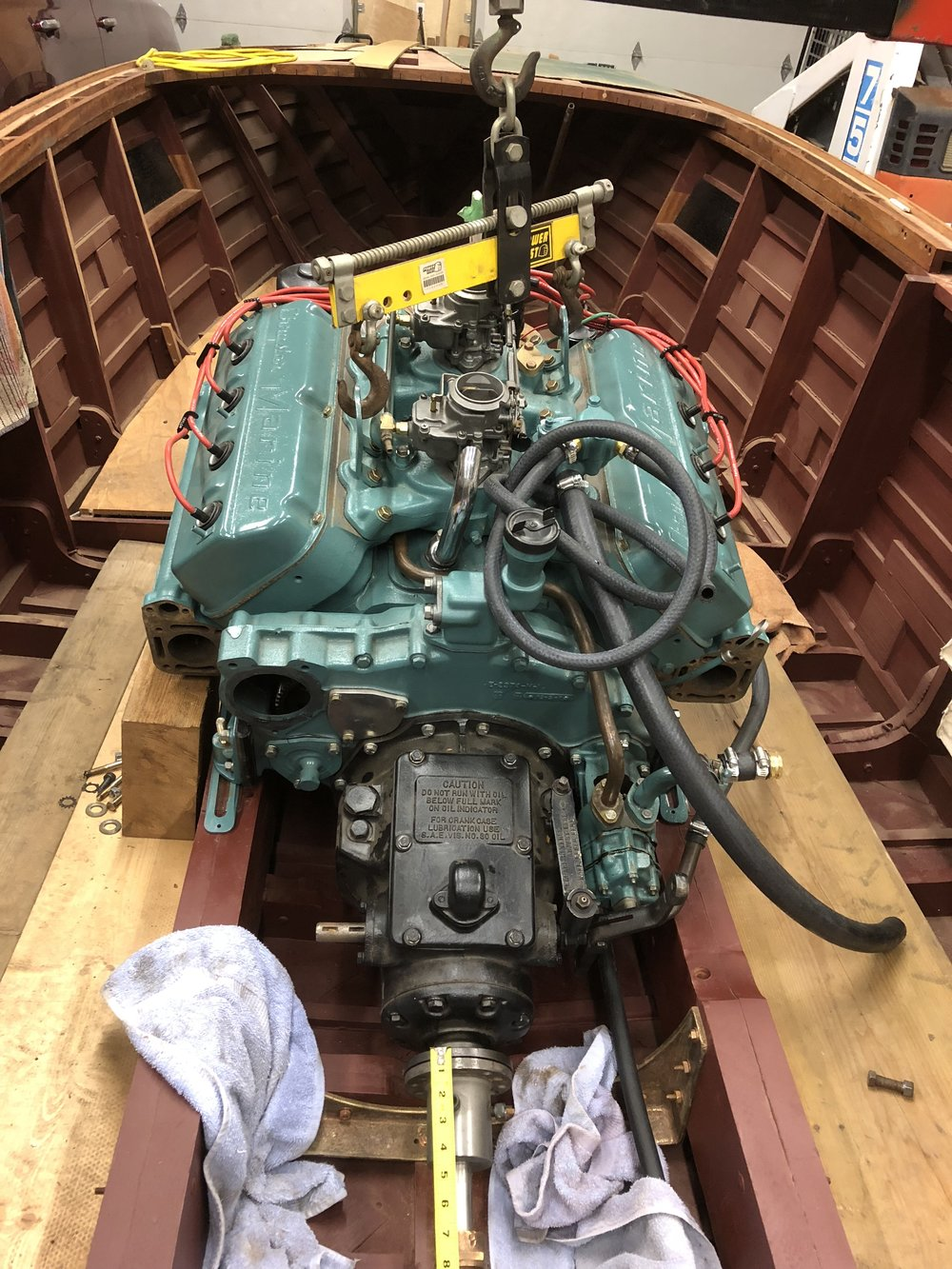 M45 Chrysler 331 Hemi - While the boat reconstruction was taking place engines and parts, etc were delivered to Island D Automotive, Nanaimo, BC for total rebuild. One of the engine blocks had huge cracks in the cylinders so it was useless. The