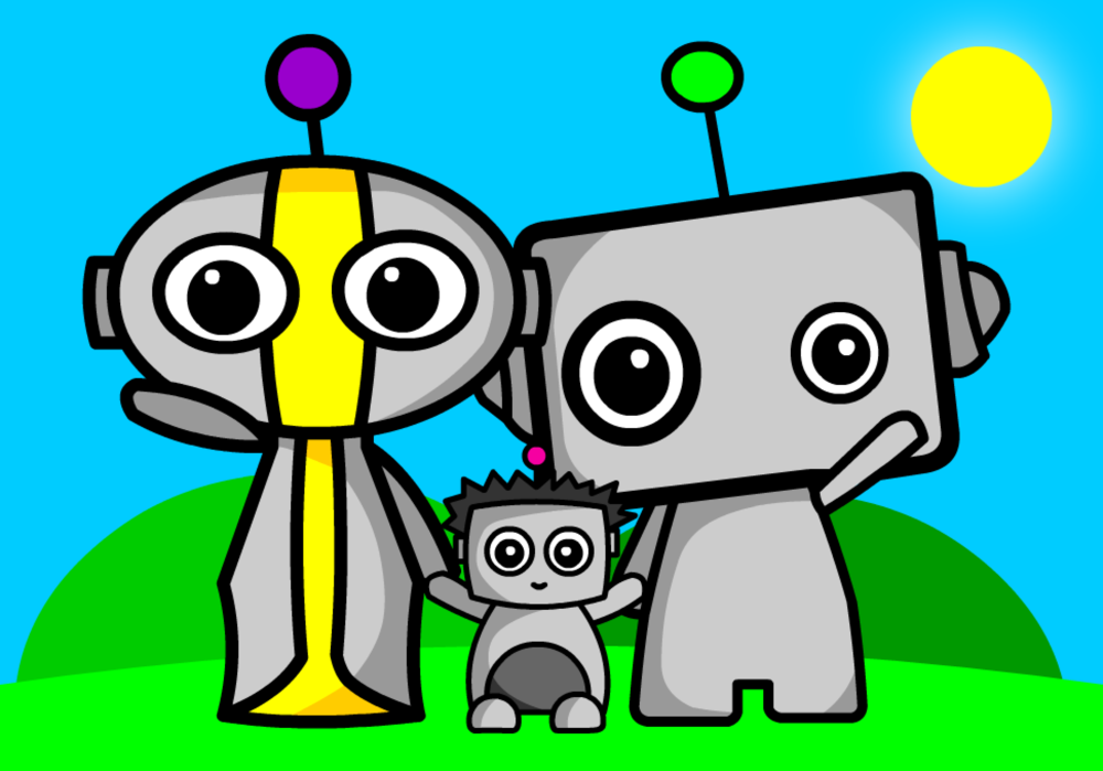 Meet Rob-Bot, Ann-Droid and Short Circuit… look out for them in my resources!