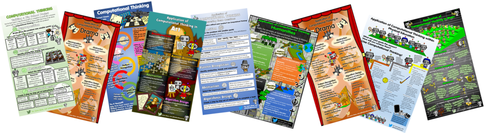 I have created several posters to promote the application of computational thinking across the curriculum. All these posters can be downloaded for free from my website.