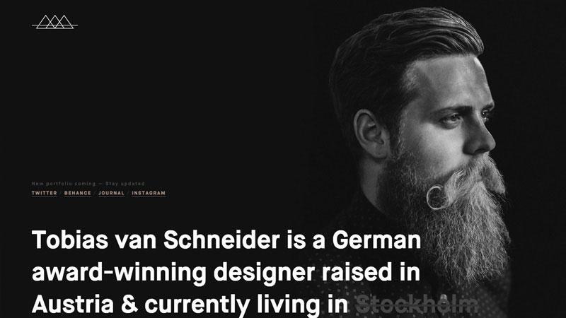 Examples of Personal Branding Web Design - Tobias Van Schneider
