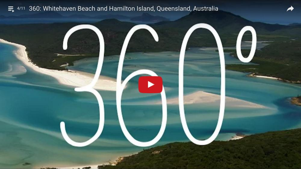 Whitehaven Beach and Hamilton Island, Queensland, Australia   360 Video