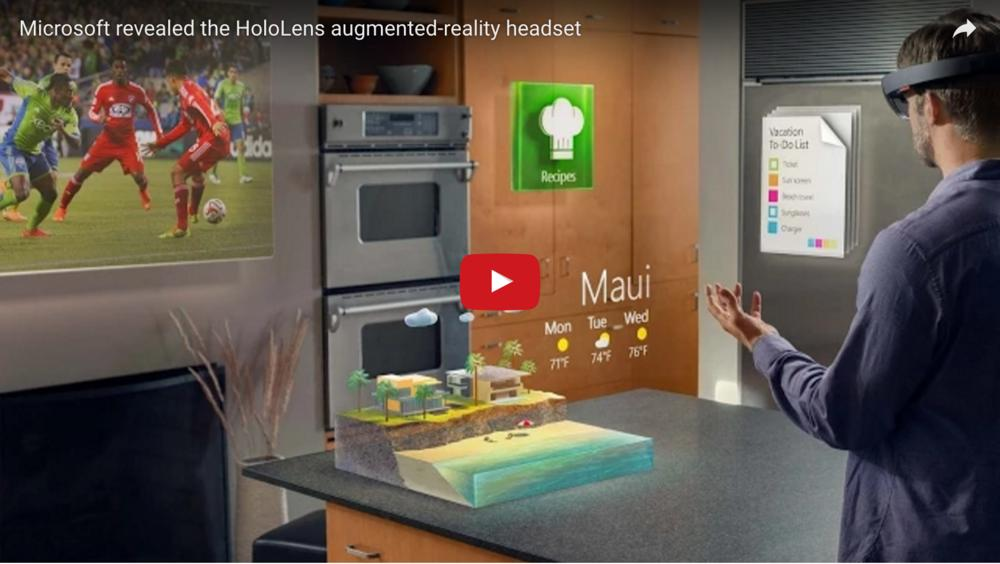 Microsoft Reveal HoloLens Augmented Reality Headset