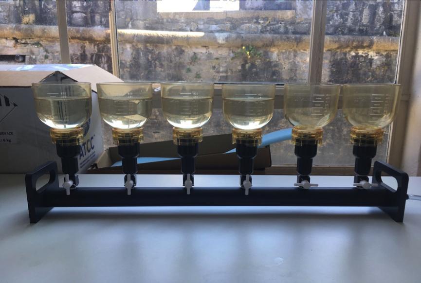 Preparing water samples in the lab. Photo: Fenella Wood