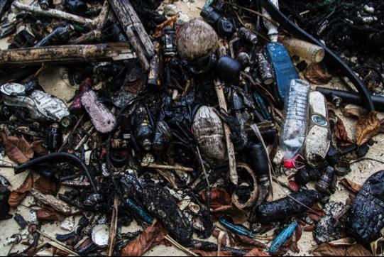 Perhentian's plastic problem. Photo: Matt Bassett