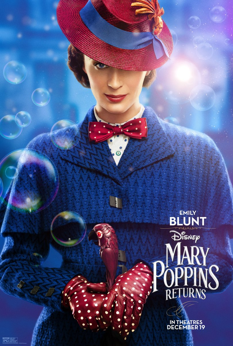 Mary Poppins Returns - Directed by Rob MarshallWritten by David MageeWith Emily Blunt, Lin-Manuel Miranda, Ben Whishaw, Emily Mortimer…