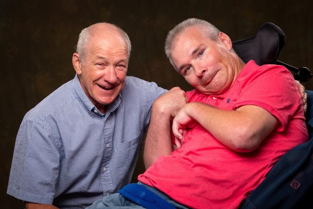 Nick and his father Richard
