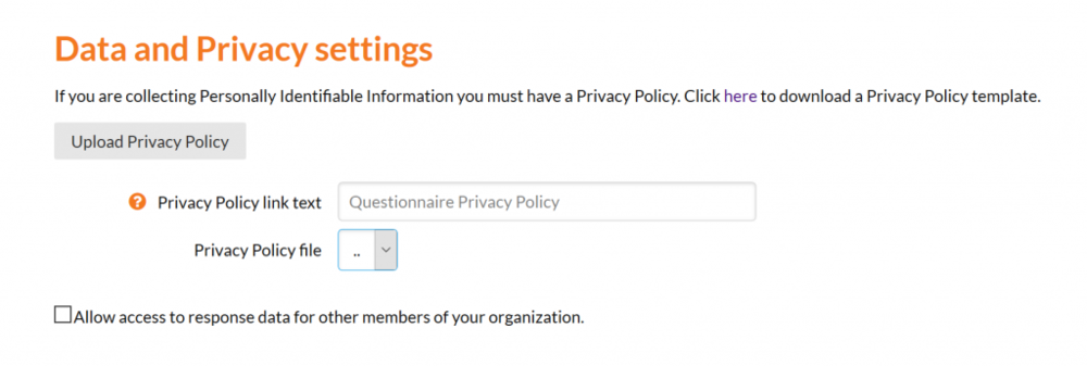 "A screenshot of the new ""Data and Privacy Settings"" section"