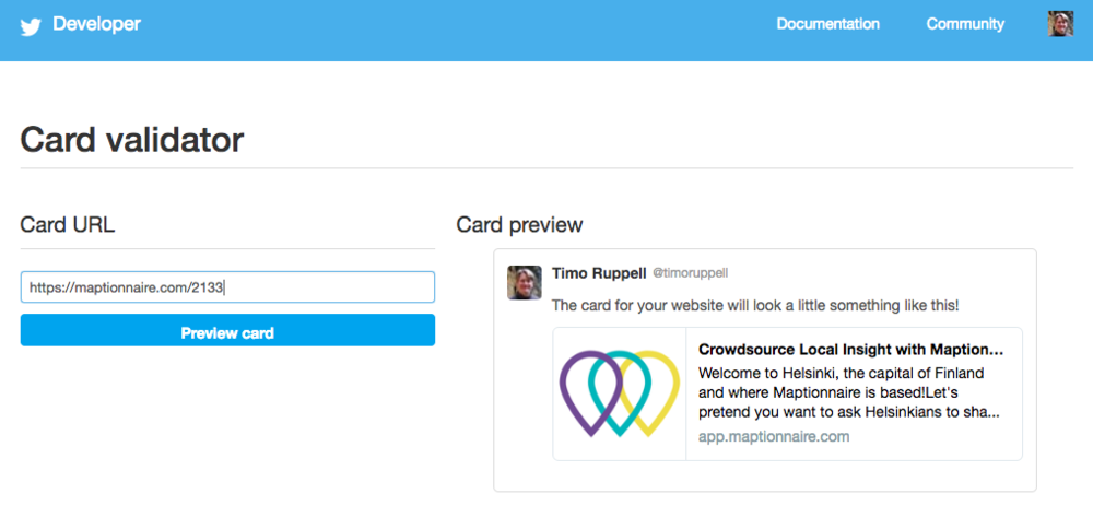 Twitter's preview tool