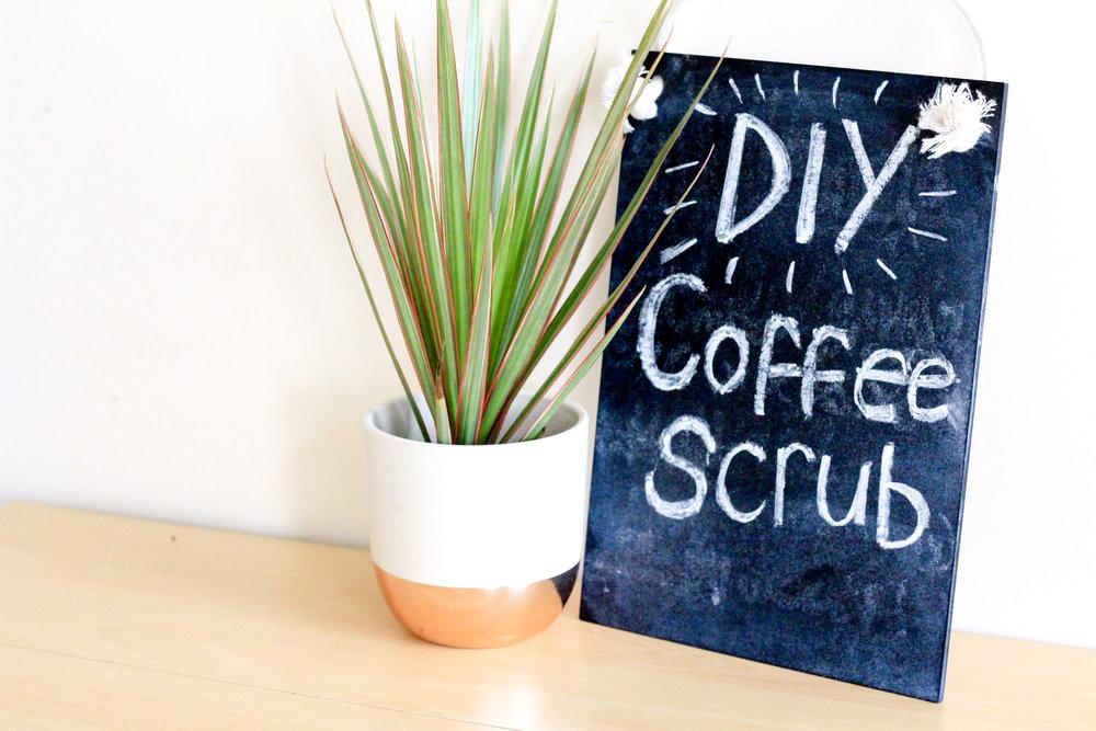 DIY Coffee Scrub Recipe Title Image