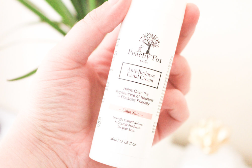 Peachy Fox London Cruelty Free Beauty Anti-Redness Facial Cream