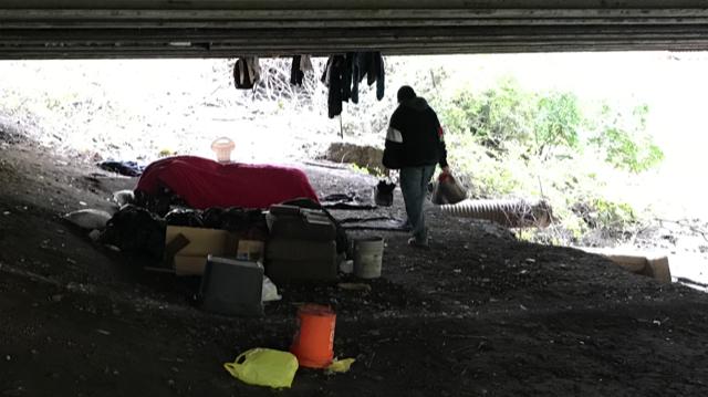 CW's camp under the bridge