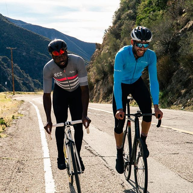 """Take a trip to the top of Mt.Baldy with Josh and current US National Champ, Justin Williams in the latest  episode of """"riding fixed, up mountains, with pros"""" 📷 @damerius_chrimbus  #sttb  #fixedgear  #redhookcrit  #cycling  #reform #california  #vsco  #fromwhereiride  #mountains"""