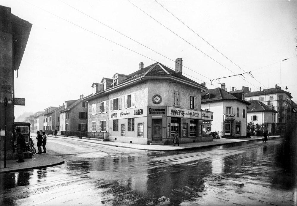 1930 - Ausbau des Sortiments und Umzug in die eigene Liegenschaft am aktuellen Standort an der Langstrasse 234.