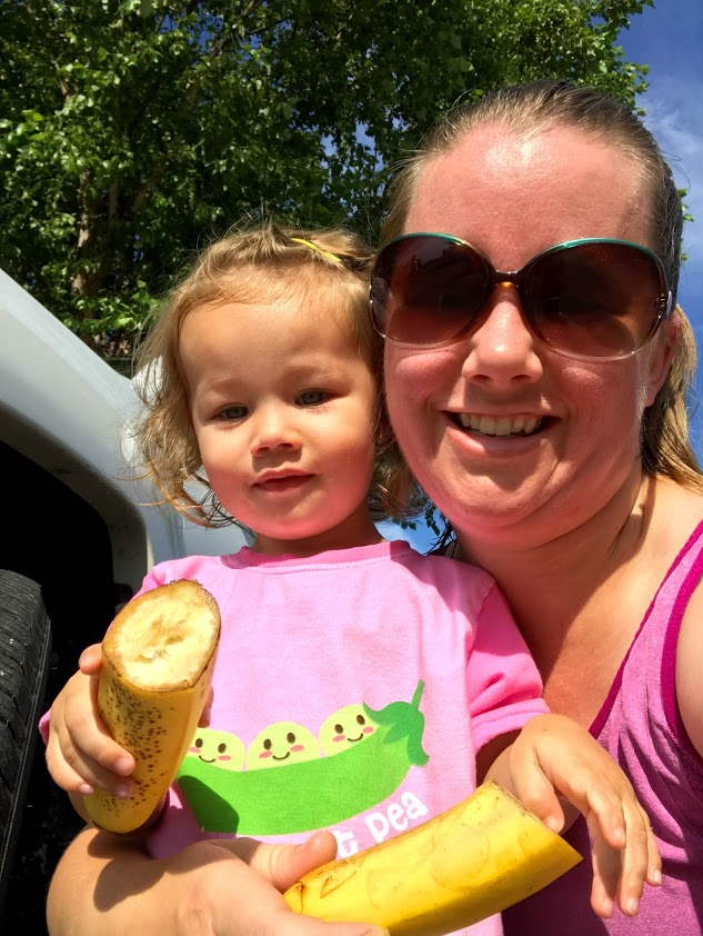 Post race banana selfie tradition started when Rosie started joining me for 5ks.